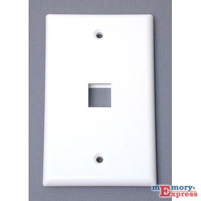 MX242 Universal Wallplate, Single Outlet, White