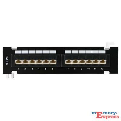 MX25454 12-Port 1U Cat 6 110 Patch Panel, 45 Degree