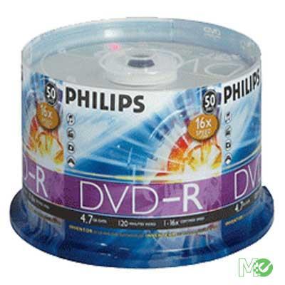 MX32652 4.7GB 16x DVD-R Silver Logo, 50 Pack