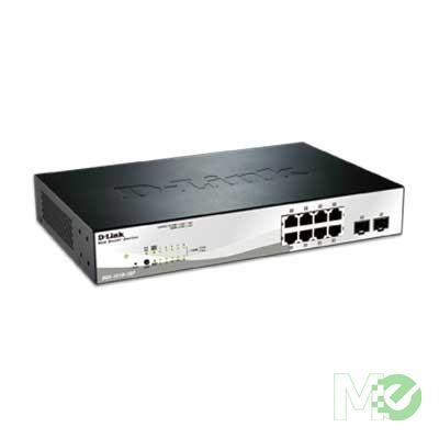 MX33858 1210 Series Smart Managed 8-Port Gigabit PoE Switch w/ 2 RJ45 / SFP Combo Ports