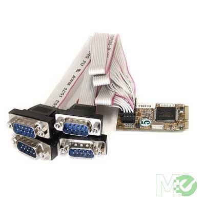 MX39910 4 Port RS232 Mini PCI Express Serial Card w/ 16650 UART