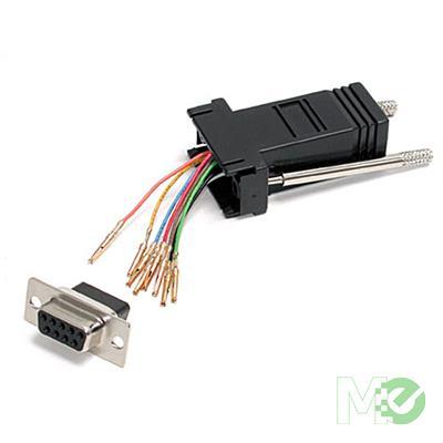 MX4629 DB9 to RJ45 Modular Adapter, F/F