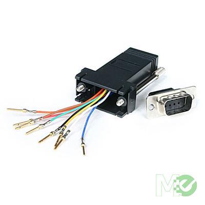 MX4630 Serial DB9 to RJ45 Modular Adapter, M/F