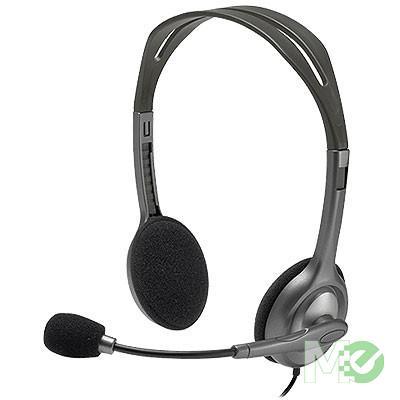 MX49841 H110 Stereo Headset, Dark Grey