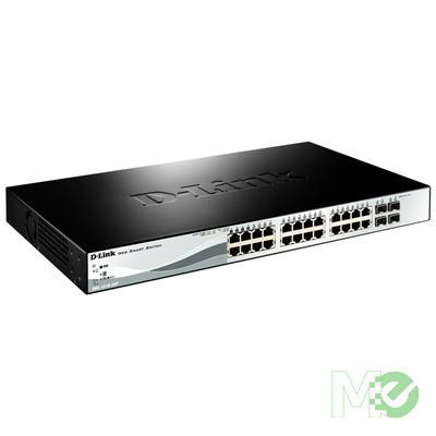 MX57903 1210 Series Smart Managed 24-Port Gigabit PoE Switch w/ 4 RJ45 / SFP Combo Ports