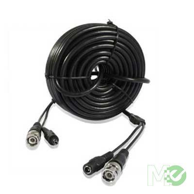 MX58377 W-VP1015 Pre-Made Surveillance AWG-22 BNC CCTV Video 5.5mm Power Bare, 15m