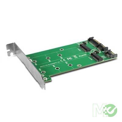 MX60862 Multi-size Dual M.2 to Two SATA III Port Converter Kit