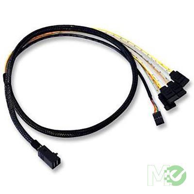 MX61881 L5-00221-00 Internal Interface Cable, Mini SAS To 4x SATA , 1m