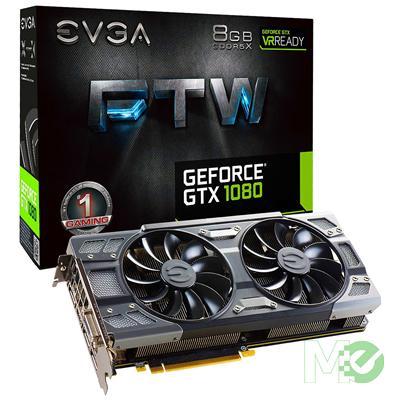 MX62546 GeForce GTX 1080 FTW ACX 3.0 Gaming 8GB PCI-E w/ RGB LED, DVI, HDMI, Triple DP