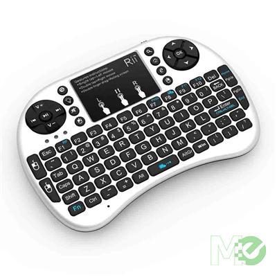 riitek rii i8 wireless multimedia mini keyboard w touchpad and backlit white wireless. Black Bedroom Furniture Sets. Home Design Ideas