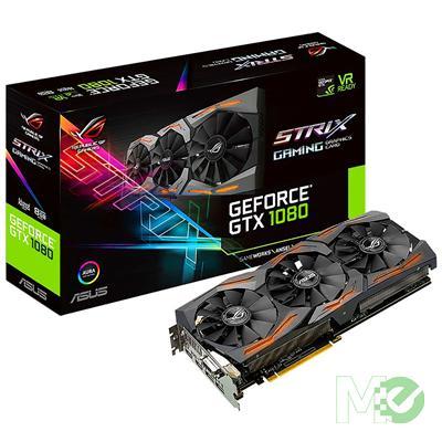 MX63447 ROG STRIX GTX1080 Advanced Gaming GeForce GTX 8GB PCI-E w/ Dual HDMI, Dual DP, DVI