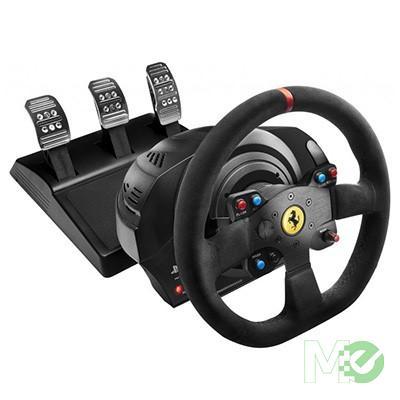 MX63899 T300 Ferrari Integral Racing Wheel w/ Pedal Set, Alcantara Edition, for PS3, PS4, PC