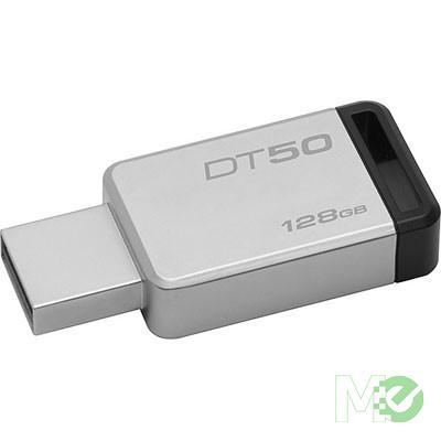 MX64737 DataTraveler 50 USB 3.1 Type-A Flash Drive, 128GB, Black