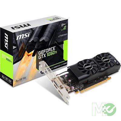 MX65131 GeForce GTX 1050 Ti Low Profile 4GB PCI-E w/ HDMI, DisplayPort, DVI