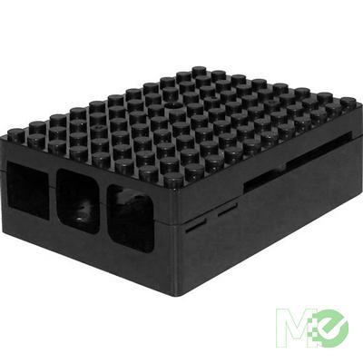 MX65155 PiBlox Raspberry Pi Enclosure Case, for Pi 3, Pi2 and B+ Computers, Black