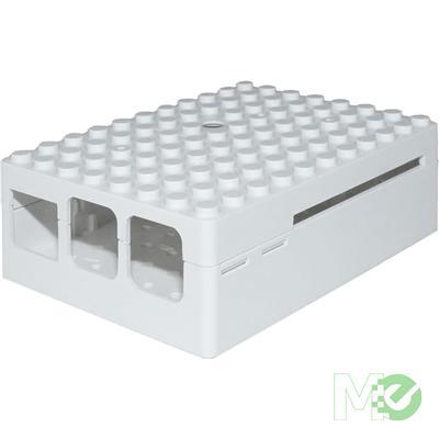 MX65156 PiBlox Raspberry Pi Enclosure Case, for Pi 3, Pi2 and B+ Computers, White