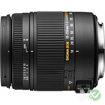 MX65493 18 ~ 250mm f3.5~6.3 DC Macro OS HSM Zoom Lens for Nikon w/ Lens Caps & Hood