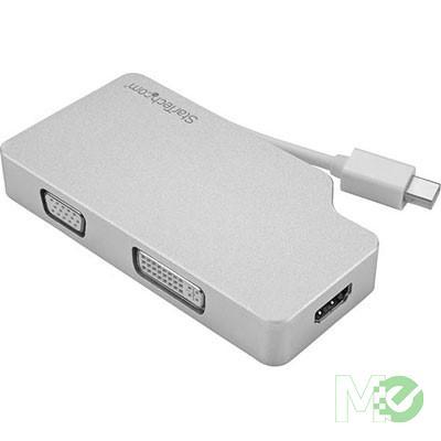 MX65833 MDPVGDVHD4K miniDisplayPort to HDMI, DVI or D-Sub VGA Audio / Video Adapter, Aluminum