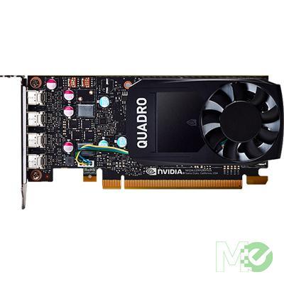 MX66143 Quadro P1000 4GB PCI-E w/ Quad DP, Half & Full Height Brackets