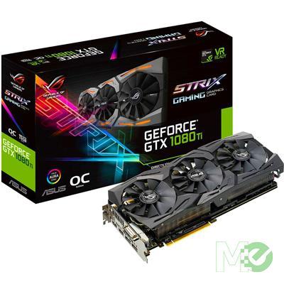 MX66174 ROG STRIX GTX1080TI OC GeForce GTX 1080 Ti 11GB PCI-E w/ Dual HDMI, Dual DP, DVI