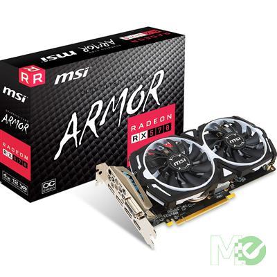 MX66284 RX 570 ARMOR OC Radeon RX 570 4GB PCI-E w/ Dual HDMI, Dual DP, DVI
