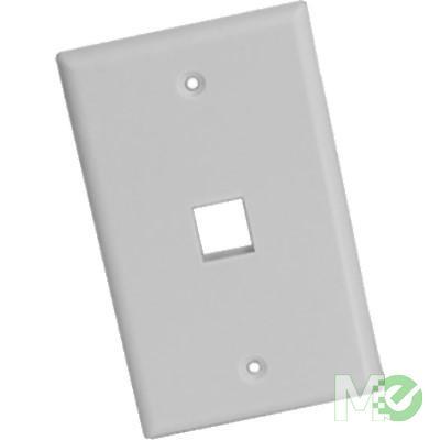 MX66574 1 Port RJ45 Keystone Wall Plate, White