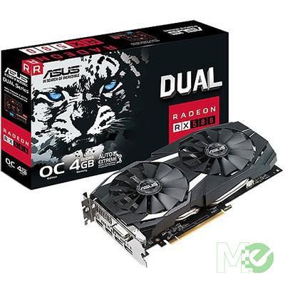 MX66741 DUAL RX580 OC Radeon RX 580 4GB PCI-E w/ DVI, Dual HDMI, Dual DP