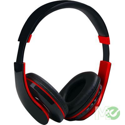 MX67017 BTS36 Bluetooth Stereo Headset w/ FM Radio Tuner, microSD Card Slot, Black