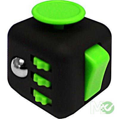 MX67063 Small Fidget Cube, Black and Green