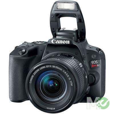 MX67506 EOS Rebel SL2 Digital SLR Kit w/ EF-S 18-55mm f/4-5.6 IS STM Lens, Black