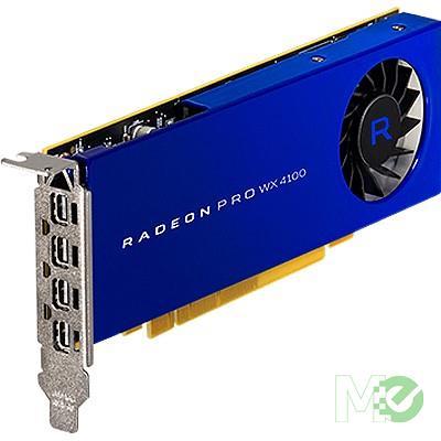 MX67623 Radeon™ WX 4100 Workstation Graphics Card 4GB PCI-E w/ Quad DP