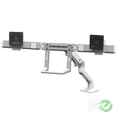 MX67945 HX Dual Monitor Arm Desk Mount, White