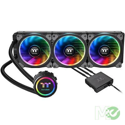 MX68253 Floe Riing RGB 360 TT Premium Edition Liquid CPU Cooler Kit w/ 360mm Radiator, 3x 120mm Riing RGB LED Fans