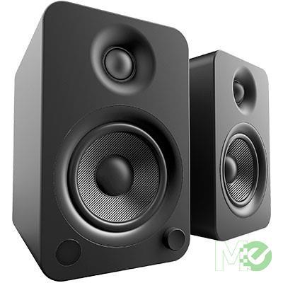 MX68499 YU4 Powered Bookshelf Speakers w/ Bluetooth, Matte Black