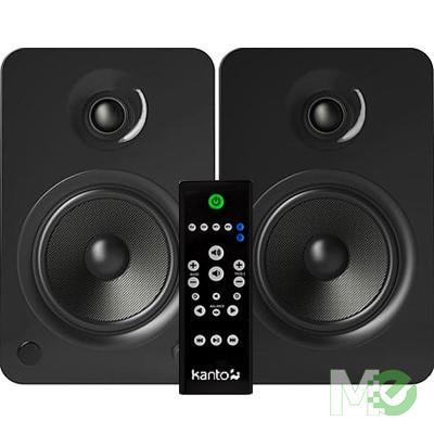 MX68574 YU6 Powered Bookshelf Speakers w/ Bluetooth, Matte Black
