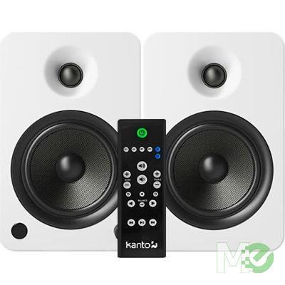 MX68575 YU6 Powered Bookshelf Speakers w/ Bluetooth, Matte White