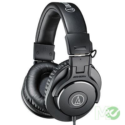 MX68594 ATH-M30x Professional Monitor Headphones, Black