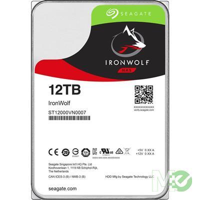 MX68896 12TB IronWolf NAS HDD, SATA III w/ 256MB Cache