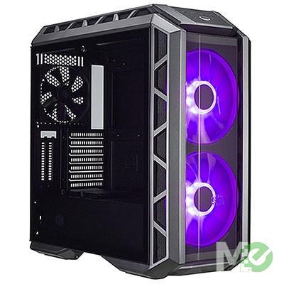 MX68996 MasterCase H500P E-ATX Gaming Case w/ Tempered Glass Window, Gun Metal/Black