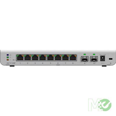 MX69004 GC110P 8-Port Gigabit Insight Managed 62W PoE Switch w/ Dual SFP Ports