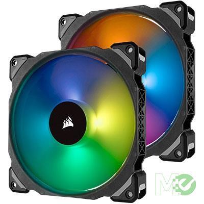 MX69190 ML140 PRO RGB LED 140mm Premium Magnetic Levitation Fans, 2-Pack, w/ Lighting Node PRO Controller