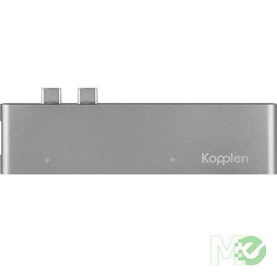 MX69804 7-in-1 Dual USB-C Hub Adapter, Silver