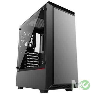MX69918 Eclipse P300 Tempered Glass Edition ATX Case, Black
