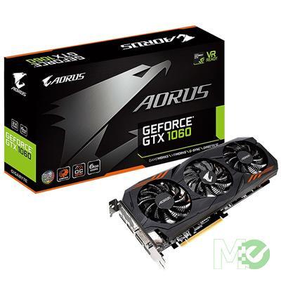 MX70204 AORUS GeForce GTX 1060 6GB PCI-E w/ DVI, HDMI, Triple DP
