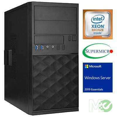 MX70212 ST1100I Server System w/ Xeon® Bronze 3104, 16GB, 480GB SSD, Windows Server Essentials 2016