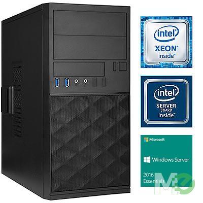 MX70213 V_ST1000I Server System w/ Xeon® E3-1220 v6, 16GB ECC, Dual 1TB HDDs, Windows Server 2016 Essentials