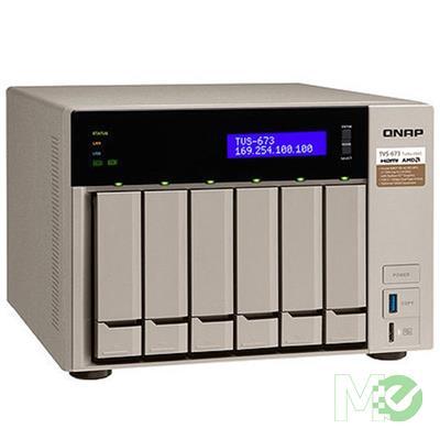 MX70289 TVS-673e 6-Bay NAS w/ 8GB RAM