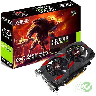 MX70716 CERBERUS GTX1050 OC GeForce GTX 1050 2GB PCI-E w/ HDMI, DisplayPort, DVI