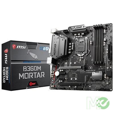 MX71268 B360M MORTAR w/ DDR4-2666, 7.1 Audio, Dual M.2, Gigabit LAN, CrossFire
