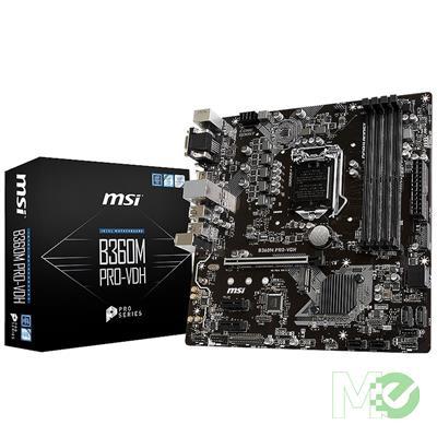 MX71271 B360M PRO-VDH w/ DDR4-2666, 7.1 Audio, M.2, Gigabit LAN, PCI-E x16